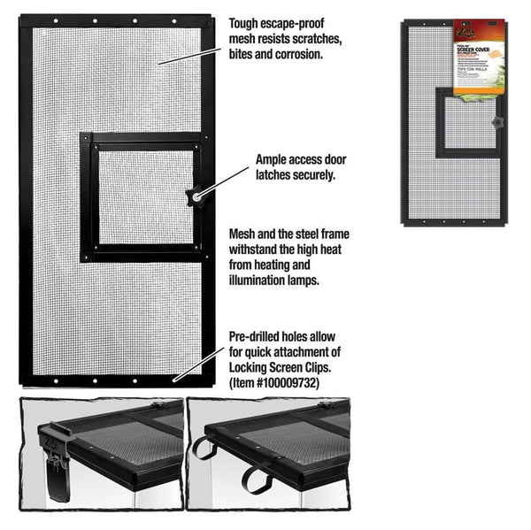 Zilla Fresh Air Screen Cover with Hinged Door 20X10.
