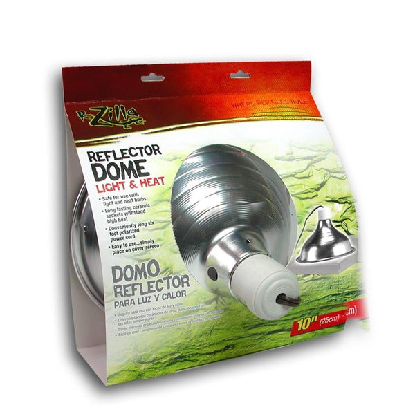 Zilla Reflector Dome Light & Heat 8.5in.