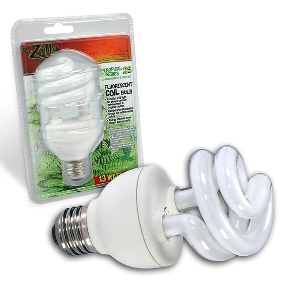 Zilla Tropical Series 25 Fluorescent Coil Bulb 13W.
