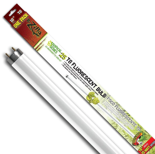 Zilla Tropical Series 25 T8 Fluorescent Bulb 15W 18in.