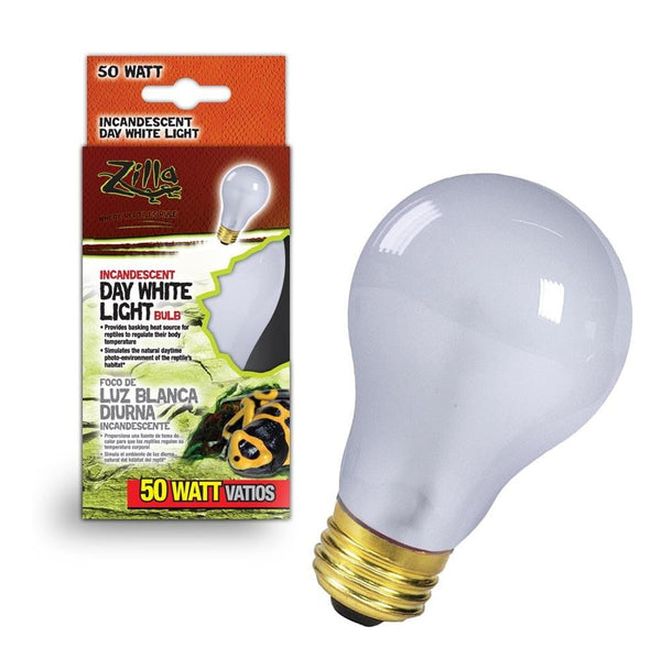 Zilla Incandescent Day White Light Bulb 50W.