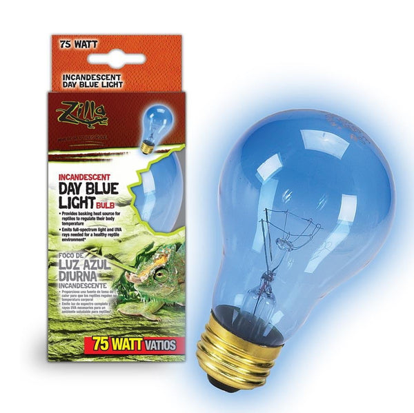 Zilla Incandescent Day Blue Light Bulb 75W.