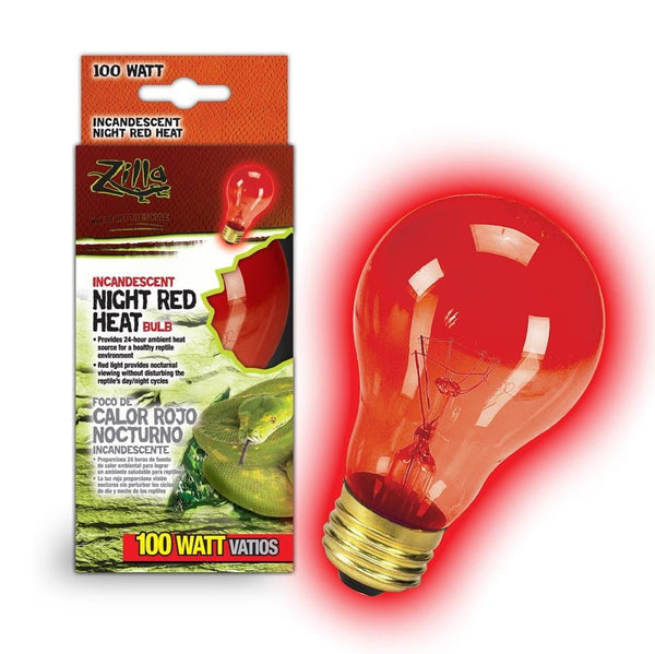Zilla Incandescent Night Red Heat Bulb 100W.
