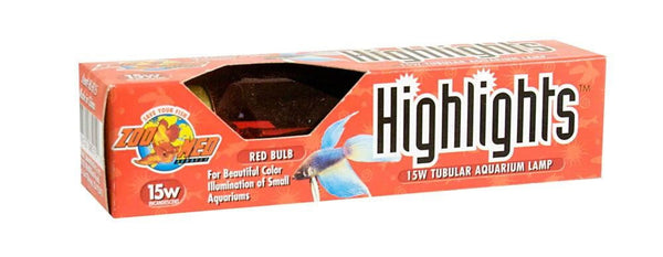 Zoo Med Highlights Incandescent Bulb Red 15W