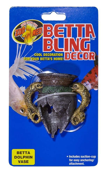 Zoo Med Betta Bling Dolphin Vase - Leaderpetsupply.com