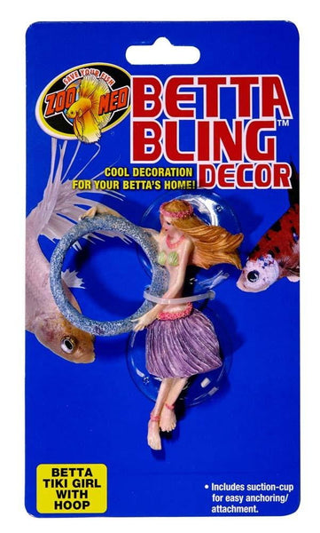 Zoo Med Betta Bling Tiki Girl with Hoop