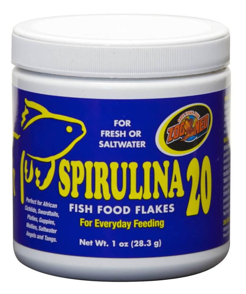 Zoo Med Spirulina 20 Flake Food 1oz - Leaderpetsupply.com