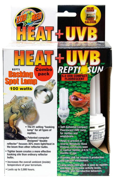 Zoo Med Heat & UVB Combo Pack 100W.