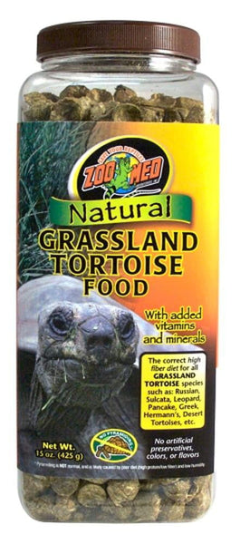 Zoo Med Natural Grassland Tortoise Food 15oz