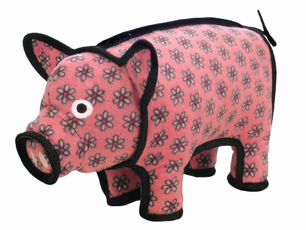 VIP Tuffy Barn Yard Series-Pig-Pink Flower Print.