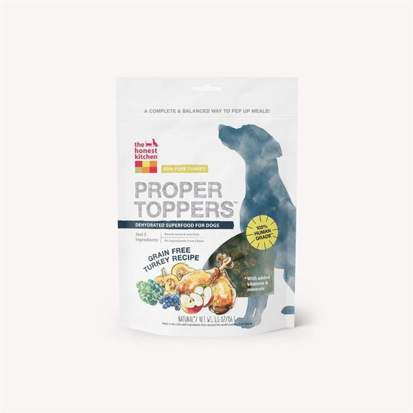 Honest Kitchen  Dog Proper Topper Grain Free Turkey 5.5 oz. - Leaderpetsupply.com