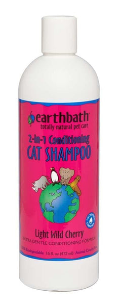 earthbath Cat Shampoo & Conditioner In One 16oz.