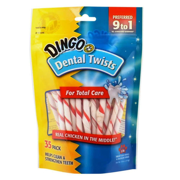 Dingo Dental Twists for Total Care, 35pk.