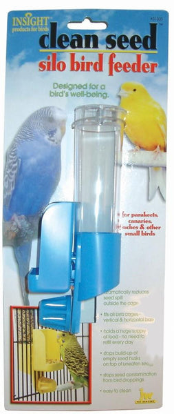 JW Pet Insight Clean Seed Silo Bird Feeder.