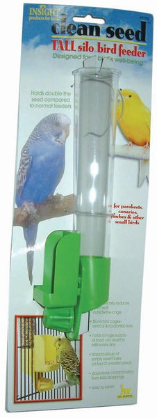 JW Pet Insight Clean Seed Silo Bird Feeder Tall.