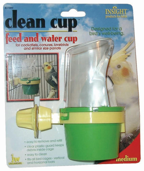 JW Pet Insight Clean Cup Feeder and Water Cup Medium.