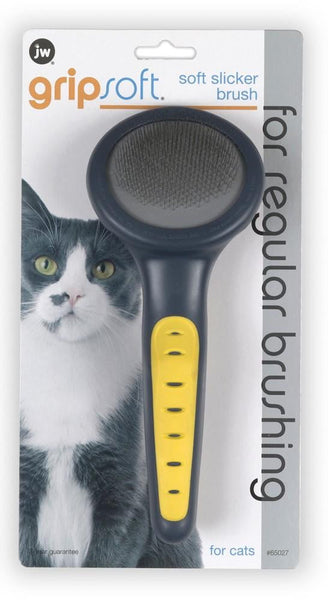 JW Pet GripSoft Soft Cat Slicker Brush.
