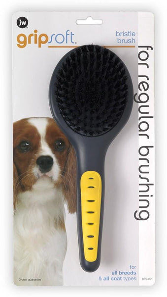 JW Pet GripSoft Bristle Brush.
