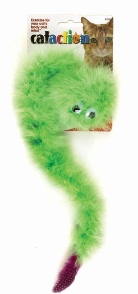 JW Pet Featherlite Catnip Boa Squeaky.