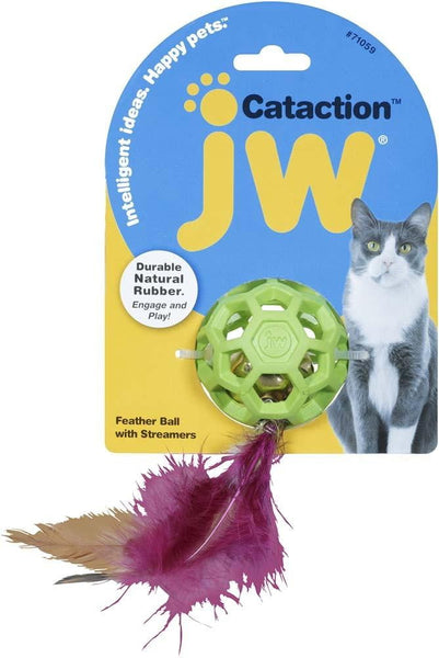 JW Pet Feather Ball with Bell.