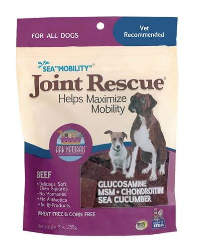 "Ark Naturals Sea ""Mobility"" Joint Rescue Beef Jerky Dog Treats, 9-oz. bag."