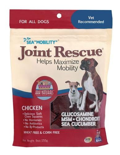 "Ark Naturals Sea ""Mobility"" Joint Rescue Chicken Jerky Dog Treats, 9-oz bag."