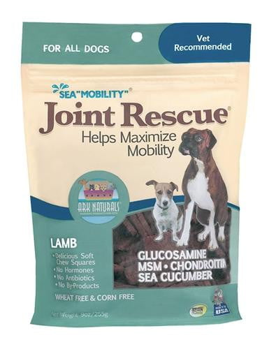 "Ark Naturals Sea ""Mobility"" Joint Rescue Lamb Jerky Dog Treats, 9-oz bag."