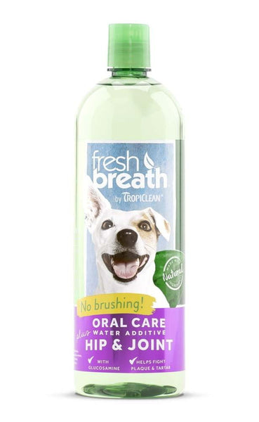 Fresh Breath by TropiClean Oral Care Water Additive Plus Hip & Joint.