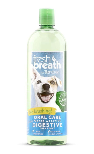 Fresh Breath by TropiClean Oral Care Water Additive Plus Digestive Support.