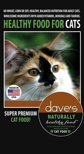 Daves Naturally Healthy Adult Cat Food 8 lbs.