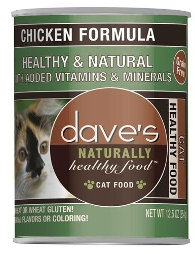 Daves Naturally Healthy Cat Food, Chicken Formula Case of 12.