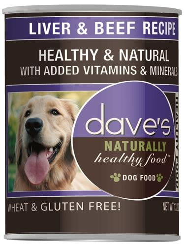 Daves Naturally Healthy, Liver & Beef  Case of 12.