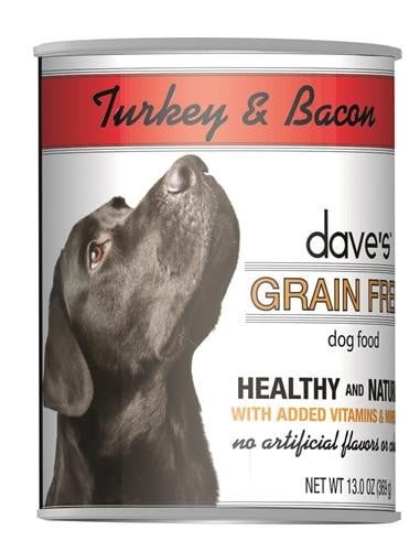 Daves Grain Free, Turkey & Bacon   Case of 12.