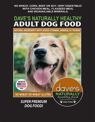Daves Naturally Healthy Adult Dog Food 30 lbs.