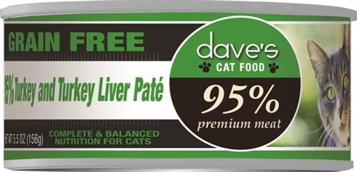 Daves 95% Turkey & Turkey Liver  Pate Formula Case of 24.