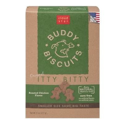 Cloud Star Original Itty Bitty Buddy Biscuits with Roasted Chicken Dog Treats, 8-oz. box.