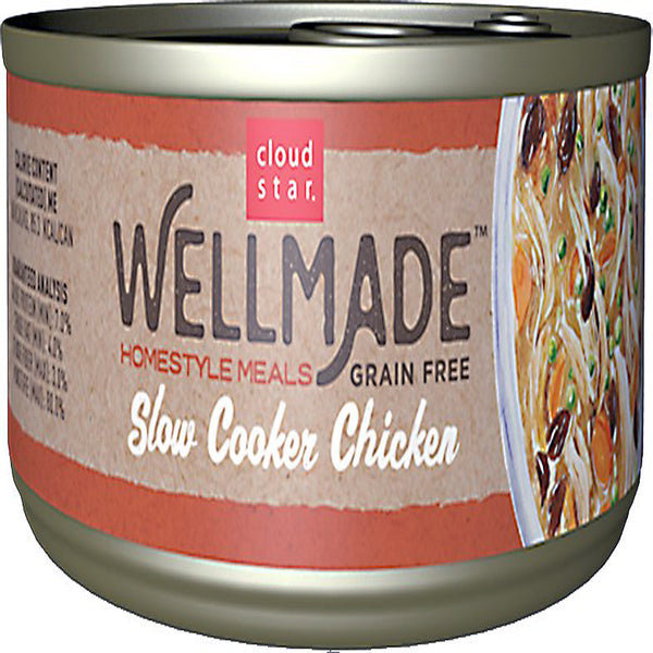 Cloud Star WellMade Homestyle Meals Slow Cooker Chicken Recipe Grain-Free Canned Dog Food 3.5oz.