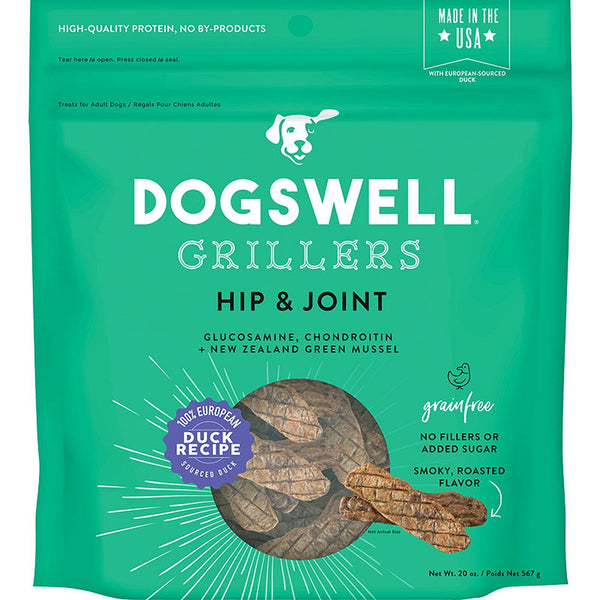 DOGSWELL DOG HIP & JOINT GRILLERS GRAIN FREE DUCK 20OZ.