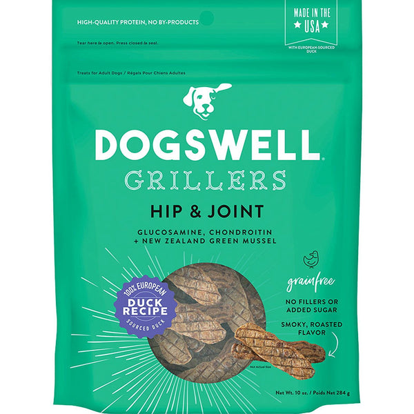 DOGSWELL DOG HIP & JOINT GRILLERS GRAIN FREE DUCK 10OZ.