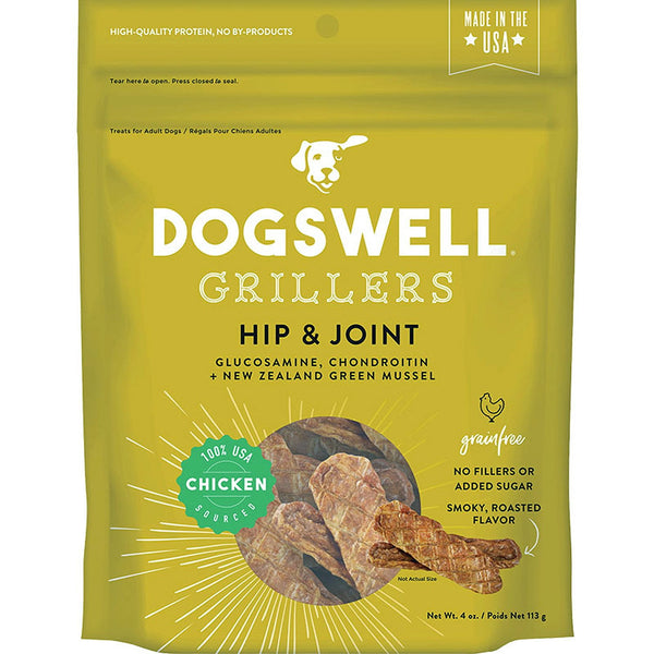 DOGSWELL DOG HIP & JOINT GRILLERS GRAIN FREE CHICKEN 4OZ.