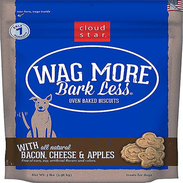 CLOUDSTAR WAGMORE DOG BAKED BACON CHEESE & APPLE 3LB.