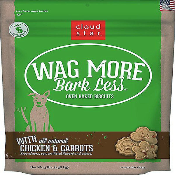 CLOUDSTAR WAGMORE DOG BAKED CHICKEN & CARROT 3LB.
