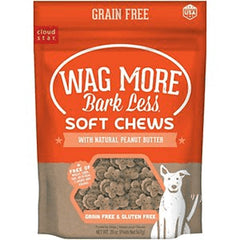CLOUDSTAR WAGMORE DOG GRAIN FREE SOFT & CHEWY PEANUT BUTTER 20OZ - Leaderpetsupply.com