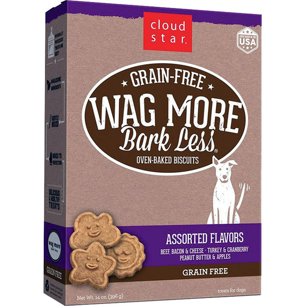CLOUDSTAR WAGMORE DOG GRAIN FREE BAKED ASSORTED 14OZ.