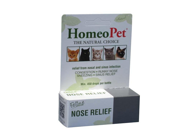 HomeoPet Feline Nose Relief 15mL.