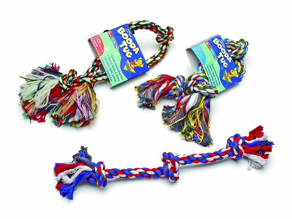 Booda 3-Knot Rope Tug Multi-Color Medium.