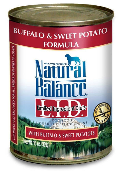 Natural Balance LID Buffalo & Sweet Potatoes 12ea-13oz.