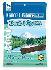 Natural Balance LIT Sweet Potato&Chicken Meal Dental Chew 13oz-12ct.