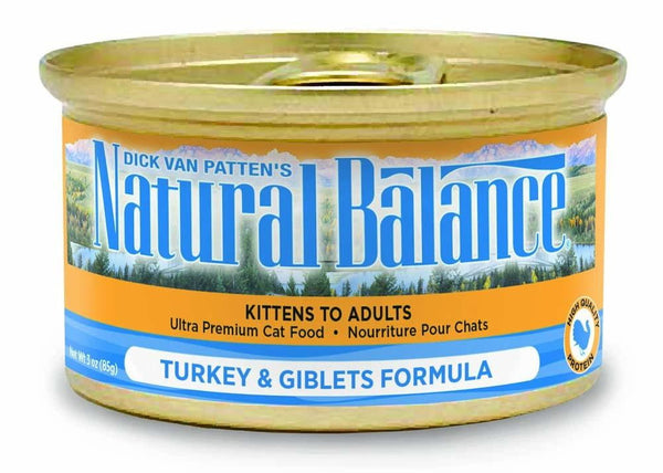 Natural Balance Turkey & Giblets Formula Canned Cat Food 24-5.5oz