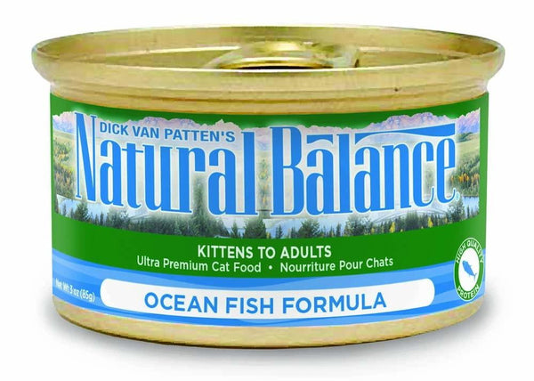 Natural Balance Ocean Fish Formula Canned Cat Food 24-5.5oz.